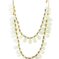 Mint Tiered Faceted Bead Necklace by Charlotte Russe