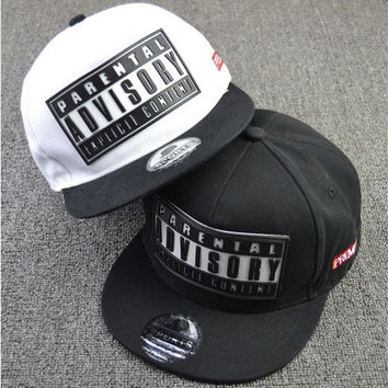 Rubber Letter Bone Snapback Brand Parental Advisory Gorras Hiphop Baseball Cap Summer Casual Casquette Women Men Flat Hat [10584520719]