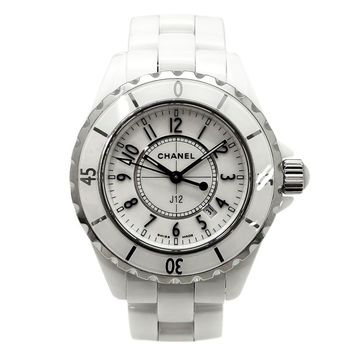 Pre-Owned CHANEL J12 H0968 Quartz Ceramic White Dial Women's Wristwatch, LL