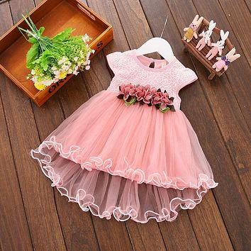 Kids Clothes Floral Girls Dress Summer 2017 Toddler Girl Clothing Princess Dress Baby Girl Party Dress for Girls 0-3Year