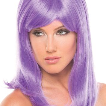 Be Wicked Lingerie Hollywood Wig Lavender