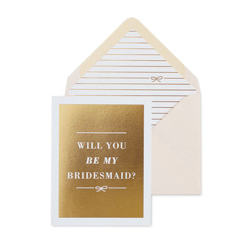 The Bow Bridesmaid Card
