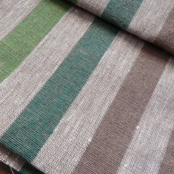 Fabric 100% Linen Canvas Upholstery Gray heavy weight Width 19.7 in by the yards