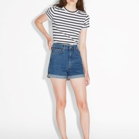 Monki | Shorts | High waisted denim shorts