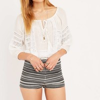 Pins & Needles Crochet-Inset Blouse - Urban Outfitters