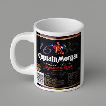 Gift Mugs | Black Captain Morgan Ceramic Coffee Mugs