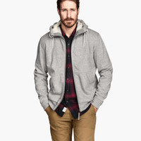 Pile-lined Hooded Jacket - from H&M