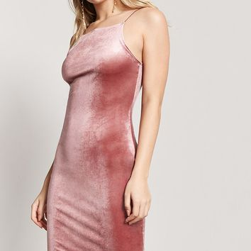 Velvet Bodycon Cami Dress