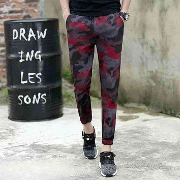 ONETOW 1724ankle length military pencil pants joggers high street trousers camouflage pants track pants slim sweat pants
