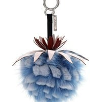 Fendi Ananas Mink Fruit Charm for Handbag, Blue