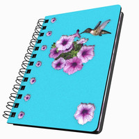 Hummingbird & Flowers Small Acrylic Journal