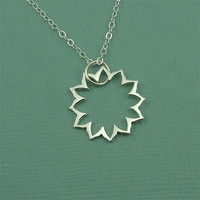 Heart Chakra Necklace - sterling silver hindu yoga necklace - buddhist jewelry - gift