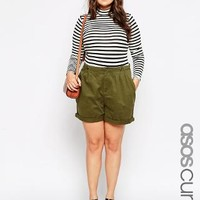 ASOS Curve | ASOS CURVE Utility Short With High Waist at ASOS