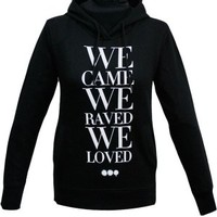 We Came We Raved Ladies Hoody (Black) | The Official Webstore for Swedish House Mafia