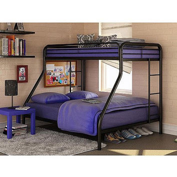 Kids Twin-Over-Full Steel Metal Bunk Bed Childrens Bedroom Furniture