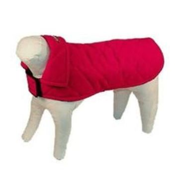 Red Quilted Nylon Pet Jacket