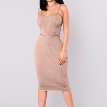 Berlin Bandage Dress - Almond