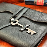 Supermarket: Nottinghill Refillable Leather Journal with Antique Key from Divina Denuevo