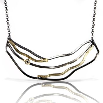 ALL NEW Beauty & Beach Small Wave Necklace with Diamond