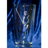 Fan Art Pint Glasses - Fett, Solo, R2 and Luke Fan Art Engraved 16oz Pint Glasses