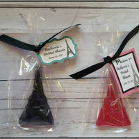 Eiffel Tower Party Favors with Tags - Parisian French Bridal Wedding with Bags, Ribbons & Tags Glycerin Posh Party Soap Favors Pack of 20