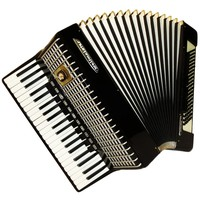 Weltmeister Stella, 120 Bass, 16 Registers, Case, German Piano Accordion Instrument (632)