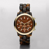 Show Stopper Chocolate Tortoise Chronograph Watch
