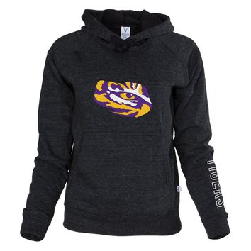 Official NCAA Louisiana State University Tigers LSU GEAUX Tiger Mike Women's Boyfriend-Fit Adult Hoodie Stylish Tri- Blend  Full Sleeve O-Neck Durable Premium Sweatshirt