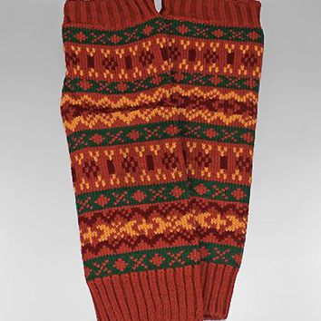 Long Nordic Pattern Knit Acrylic Boot Cuffs