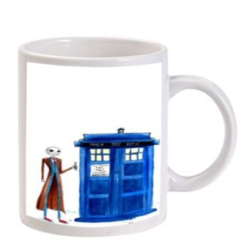 Gift Mugs | Tardis Jack Skellington Ceramic Coffee Mugs