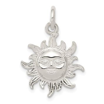 925 Sterling Silver Sun Charm and Pendant
