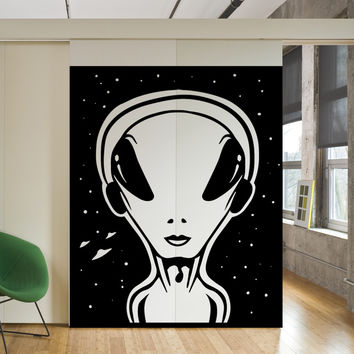 Vinyl Wall Decal Sticker Alien Art #OS_MB473
