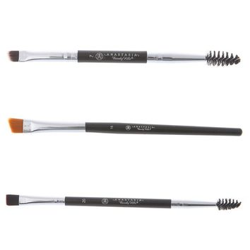 Pro Eyebrow Brush Cosmetic Eye Brow Makeup Tool Eye Shadow Eyeliner Brushes Large Synthetic Duo Brow Brush Blending Eyebrow