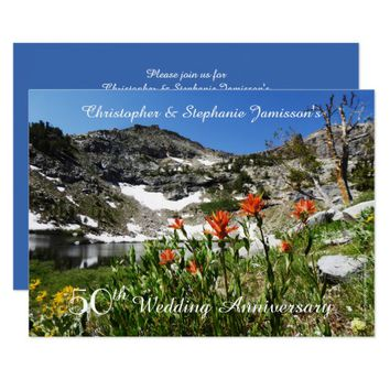 50th Wedding Anniversary Invitation, Wildflowers Card