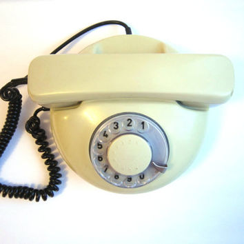 Vintage rotary grey  phone in working condition
