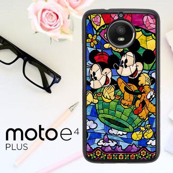 Disney Mickey & Minnie Mouse Stained Glass V0102 Motorola Moto E4 Plus Case