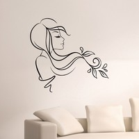 Wall Decal Vinyl Sticker Beauty Girl Hair Salon Spa Decor Sb494