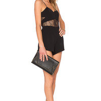 NBD Girl Gone Bad Romper in Black