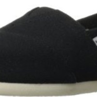 TOMS Womens Black Canvas Slip On Casual Shoes Size 7