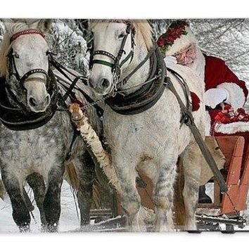 Santa Sleigh With Horses - Phone Case