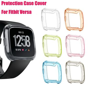 TPU Silicone Cover Case Watch Casing Guard Protector For Fitbit