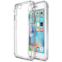 iPhone 6S Case, Trianium [Clear Cushion] Premium Clear Case Hard Back Panel + TPU Bumper for Apple iPhone 6 (2014) / iPhone 6s (2015) - Shock Absorbing + Scratch Resistant Frame Cover Case - Clear