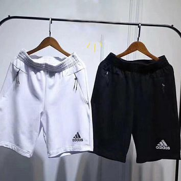 Adidas men's and women's knitted sports shorts cotton couples shorts and beach pants