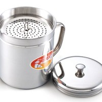 Cook N Home 1-1/2-Quart Stainless Oil Storage