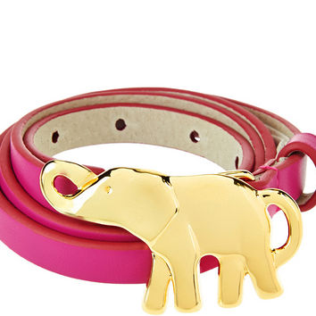 C. Wonder Waist Belt with Goldtone Elephant Buckle — QVC.com