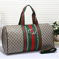 Gucci Women Luggage Bag Leather Shoulder Bag Satchel Tote Handbag