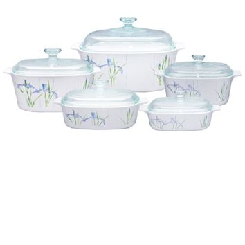 CorningWare Classic Square 10pc Casseorle Set Shadow Iris