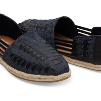 DARK DENIM WOMEN'S HUARACHE ESPADRILLES
