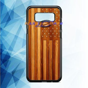 American Flag Wood Samsung Galaxy Note 8 Case Planetscase.com
