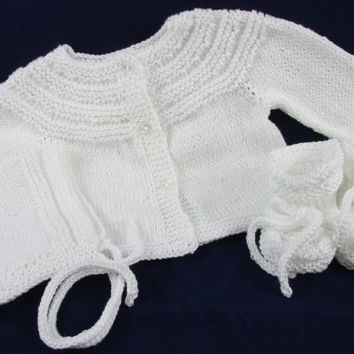 Pima Cotton Baby Sweater Set